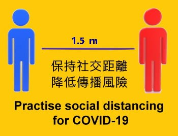 Practise social distancing  for COVID-19